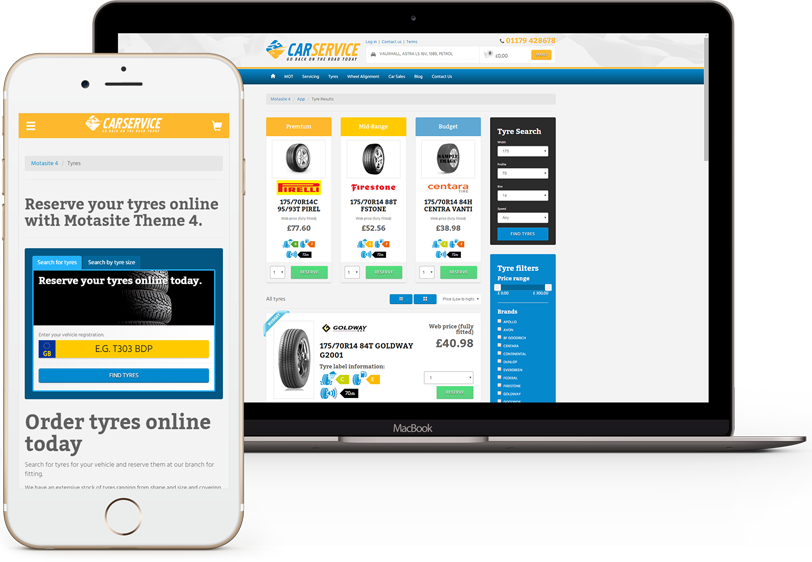 Tyreshop - Online tyre selling software