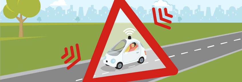 Driverless cars signal interruption